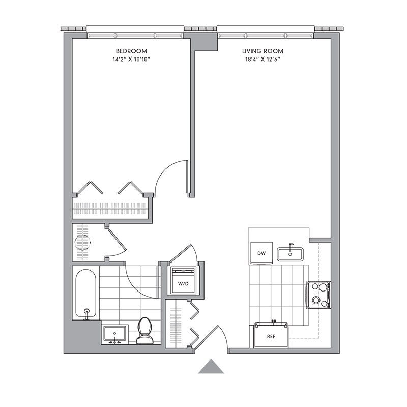 Floor plan for ,  a  bed,  bath apartment for rent in Mamaroneck, NY. Click to download pdf